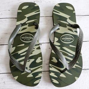 Havaianas Camoflage Flip Flop Sandals Size 9